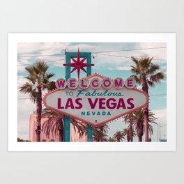 Welcome To Fabulous Las Vegas Nevada Art Print