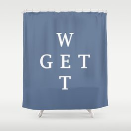 GET WET Shower Curtain