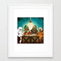 poker Framed Art Prints featuring Poker by Matt Sinor