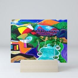 Night in Ponce, Puerto Rico Mini Art Print