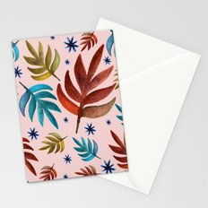Stars and leafs Stationery Cards