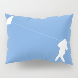 Little Girl with a Kite in Sky Blue Pillow Sham