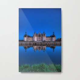 The castle of Chambord at night Metal Print