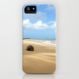 Loquillo Beach Photography - Turquoise Ocean, Blue Sky, Warm Golden Sand iPhone Case
