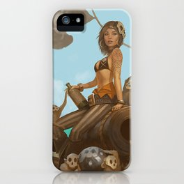 Jacquotte the monkey queen iPhone Case