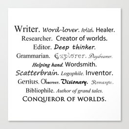 Writer Canvas Print