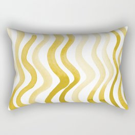 Wavy lines - yellow ochre Rectangular Pillow
