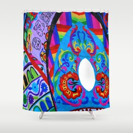 Up close - Guatemalan Kites Shower Curtain