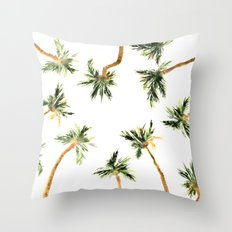 Under the coconut palms Throw Pillow