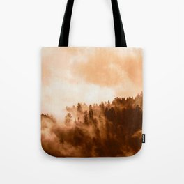 Clear away the fog to see the light. Sepia Tote Bag