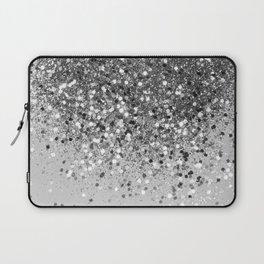Soft Silver Gray Glitter #1 (Faux Glitter - Photography) #shiny #decor #art #society6 Laptop Sleeve