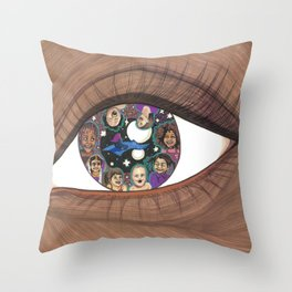 Magic in Her Eyes Throw Pillow