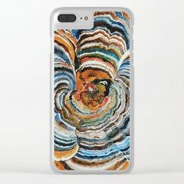 """Trametes """"Turkey Tail"""" Mushroom Clear iPhone Case"""