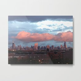 Chicago city skyline Metal Print