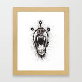Zig Bear Framed Art Print