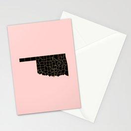 Oklahoma map Stationery Cards