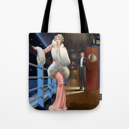 She and He on the boat of love Tote Bag