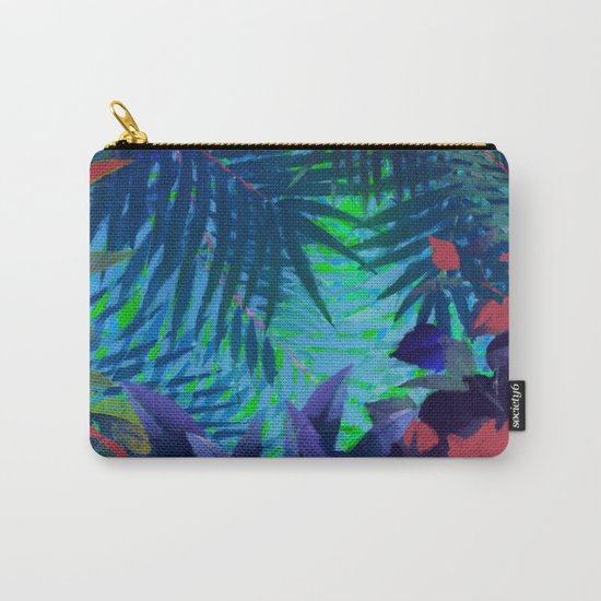 Colorful abstract palm leaves Carry-All Pouch