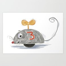 Wheel Mouse Art Print