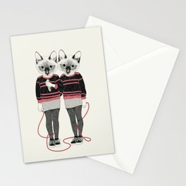 siamese twins Stationery Cards