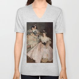 "John Singer Sargent ""Mrs. Carl Meyer and her Children"" Unisex V-Neck"