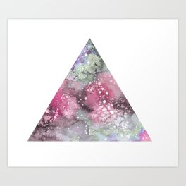 Watercolor Galaxy Triangle Art Print