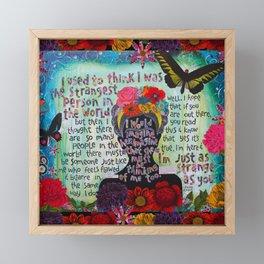 Just Like Me Frida Kahlo Quote Framed Mini Art Print
