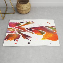 Colorful Angel Acrylic Abstract Painting by Saribelle Rodriguez Rug