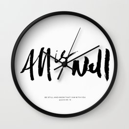 ALL IS WELL Wall Clock