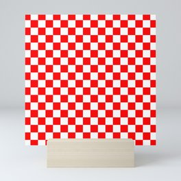 Jumbo Australian Racing Flag Red and White Checked Checkerboard Pattern Mini Art Print