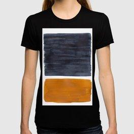 Minimalist Mid Century Modern Colorful Color Field Rothko Navy Blue Yellow Ochre T-shirt