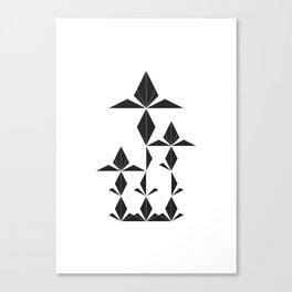 Black Lilly Canvas Print