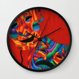 Comedy and Tragedy. Wall Clock