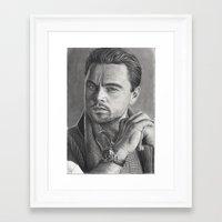 leonardo dicaprio Framed Art Prints featuring Leonardo DiCaprio by fabio verolino