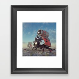 THERMONUCLEAR LADYBUGS (everyday 03.09.18) Framed Art Print