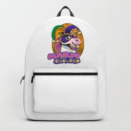 Mardi Gras | Sweet Unicorn With Cute Mask Backpack