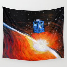Tardis Time Wall Tapestry