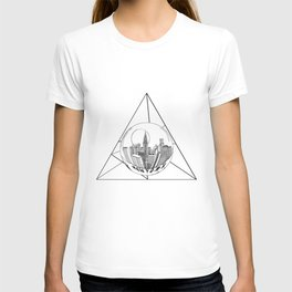GRAPHIC Geometric. Shape Gray New York in a Bottle T-shirt