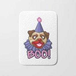 Clown Pug Halloween Joker Makeup Cute Brown Pug Light Bath Mat