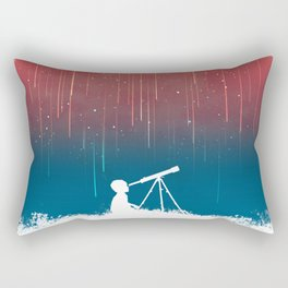 Meteor Rain (light version) Rectangular Pillow