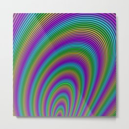 Fractal Rainbow Tunnel Metal Print