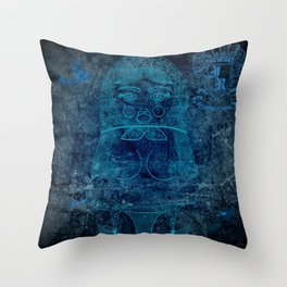 Blueprint X (background) Matryoshka / Nesting Doll Throw Pillow
