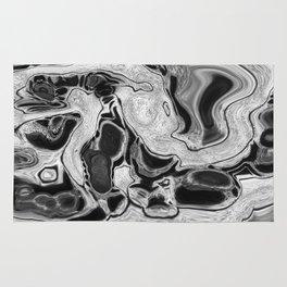 Dirty Paint Pour Digital Art Print Rug