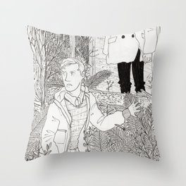 The Narcoleptic and the Pyromaniac Throw Pillow