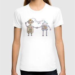 Cute robots in love II T-shirt