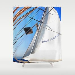 The Realist Adjusts The Sails Shower Curtain