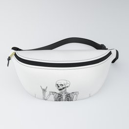 Rock and Roll Skeleton Fanny Pack