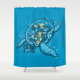 FLYING DEEP Shower Curtain