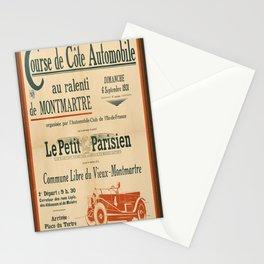 course de cote automobile au vintage Poster Stationery Cards