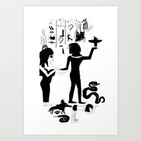 egyptian Art Prints featuring Egyptian by Inka